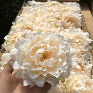 fleurs en soie artificielle Pivoine capitules de mariage Décoration de célébration de simulation décorations faux maison de tête de gros de fleurs de 15cm