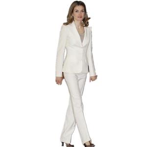 Bianco Hot Design Bussiness Formal Elegante donna Suit Set Blazer Pantaloni Office Suit Ladies Pants Suit Suit