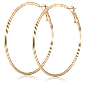 Círculo de titanio de acero grande del aro de Huggie Pendientes de moda de oro pendientes exageradas Gran Fiesta de la Mujer Para Mixto Tamaño de venta al por mayor