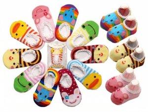 Medias chevron Calcetines de los niños del bebé Zapatillas antideslizantes Calcetines lindos del bebé zapatos Zapatos al por mayor y envío de la gota