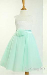 Кружева цветочница платье, мятно-зеленый цветок девочки платья тюль девочка платье малыша девочка платье, страна цветочница платье, короткое мятное платье