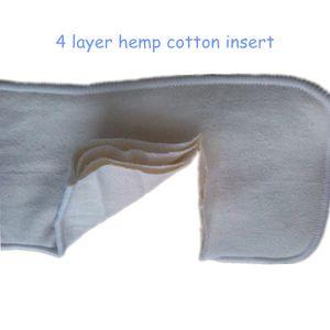 Free Shipping 50 pcs 4 Layer Organic Hemp Cotton Insert for baby Cloth Diaper nappy, 55% hemp, 45% orgac cotton