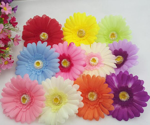 Fiori artificiali Margherita africana testa di fiore gerbera accessori per capelli simulazione dei capelli fiore di seta all'ingrosso Gerbera margherita (100 pz / lotto)