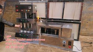 2015 novo design venda quente de boa qualidade Aço inoxidável elétrica automática 4 cone pizza fazendo máquina e máquina de forno de pizza rotativa