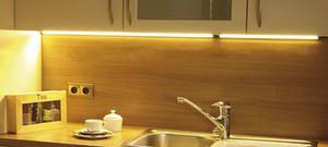 Al por mayor-2016 12v dc 3W 300mm Linear LED Bar Light 42pcs SMD3528 Ultra-delgado para Flat Under Cabinet / Furniture / showcase Lighting 10pcs