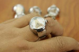 Ausdehnungsuhr Metallfinger-Ring-Uhr-Eiffelturmring Uhrfrauen Art und Weisequarz-Uhrkursteilnehmergeschenk