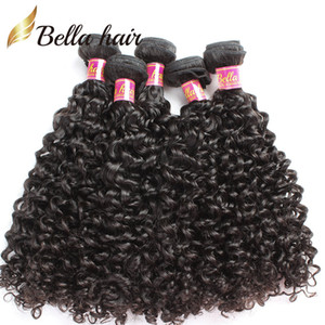 Bellahair 100% Human Virgin Caphis Extensions Weaves Wave Curly Waves Wefts Malesian Non trasformabile Bundles Capelli Doppia trama 3 PZ