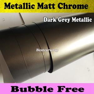 Premium Gunmetal métallisé mat gris vinyle Wrap avec Air Release Anthracite Matt Chrome film métallique Wrap Film taille 1,52 x 20 m / Roll