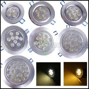 Haute qualité 3W 4W 5W 7W 9W 15W 18W LED encastré au plafond dans la lumière Lampe Spot Ampoule AC 85-265V Intérieur Downlight LED avec pilote LLWA023