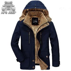 All'ingrosso-Inverno giacca uomo Nuovo 2017 Giacca a vento di marca originale AFS caldo spessore per il tempo libero giacche uomo Parka M-5XL