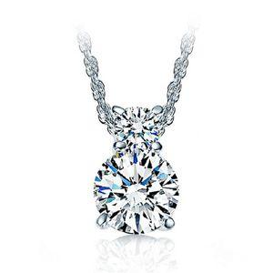 925 ayar gümüş kolye takı takılar etnik vintage çift shinning kristal kolye kolye kadın