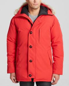 캐나다 샤토 브랜드 남성 Veste 옴므 야외 겨울 Jassen 겉옷 큰 모피 후드 Fourrure Manteau 다운 자켓 코트 Hiver 파카 Doudoune