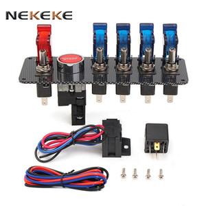 Facile da spegnere in caso di emergenza da qualsiasi angolazione LED Pulsante di avviamento del motore Attiva / disattiva il pannello dell'interruttore di accensione per auto da 12V in carbonio