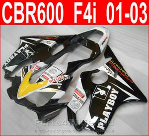 PLAYBOY white bodykits Style para Honda CBR600 F4i kit de carenado CBR F4i cbr600f4i 2001 2002 2003 carenados FSOV