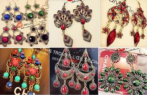 Inventory low price package deal with mixed style Earring Retro palace Earrings Bohemia style 1500g $ $86