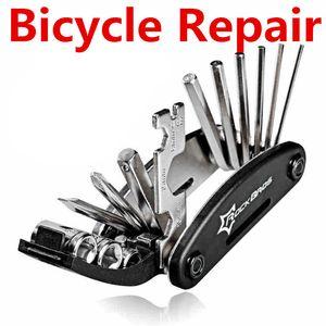 15 in 1 Fahrrad Repair Tool Sets Moutain Rennrad Reparatur Werkzeuge Multifunktionsschlüssel Schraubendreher Kette Cutter Sets