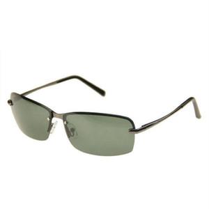Polarize Sürüş Erkekler Için Güneş Gözlüğü Çerçevesiz Alaşım Çerçeve Polarize Anti-Parlama Lens Erkek UV400 Gözlük Saulesbrilles Outlet