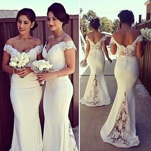 vestido de dama de honra Off The Shoulder Mermaid Bridesmaid Dresses 2019 Evening Party Dresses Maid of Honor