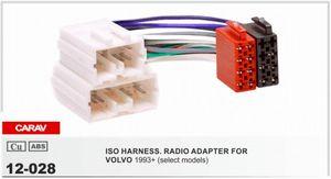 CARAV 12-028 VOLVO 1990-2001 용 ISO 무선 어댑터 (일부 모델) 배선 하네스 커넥터 리드 룸 케이블 플러그