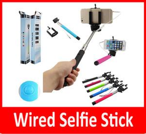 Z07-5 plus z07-5plus 5s Wired Selfie-Stick Monopod Groove Monopods Selbstauslöser Shutter Clip für IOS Samsung