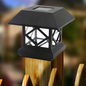 Lámpara solar para césped Lámpara LED para pilares Lámpara de jardín impermeable Cerca de luz Ahorro de energía Lámpara Solar Post Lámparas LED