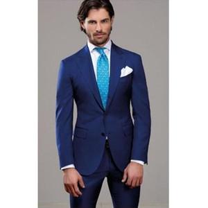 Nueva boda Best Man Groomsmen Suit Formal Bespoke Tuxedos Party Prom Suit traje de cuello chino 2 piezas (chaqueta + pantalones)