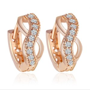 High Grade Stud Earrings Fashion Crystal 18KGP Earrings Trend Jewelry For Women Best Gift Jewelry Earrings 82B411