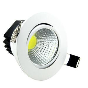 새로운 슈퍼 밝은 LED 디 밍이 가능한 통 COB 5W 7W 9W 12W led recessed ceiling spot light LED 장식 천장 조명 AC85-265V