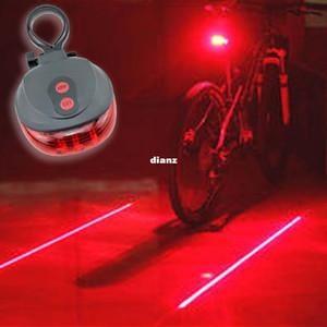 Chegam novas (5LED + 2Laser) 7 modo de flash Ciclismo de Segurança Da Bicicleta Da Lâmpada Traseira à prova d 'água Da Bicicleta Da Cauda Luz de Aviso Da Lâmpada de Piscando