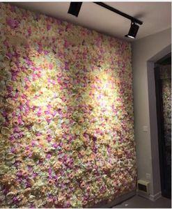 la parete di fiore di seta della tracery della rosa di tracery della parete floreale del fiore artificiale fiorisce la fase creativa di nozze che spedice liberamente
