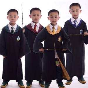Çocuklar Harry Potter Robe Kızlar Boyes Gryffindor Hufflepuff Slytherin Ravenclaw Okul Üniforma Hood Pelerin Pelerin Cadılar Bayramı Giysileri