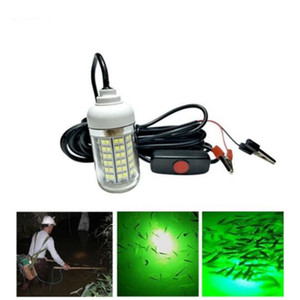 12V 108LEDs 녹색 파란색 흰색 수 중 낚시 빛 램프 15W 낚시 보트 빛 IP68 방수 LED 밤 물고기 피더 낚시 미끼 조명