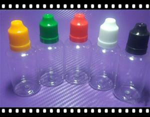 Vuoto PET trasparente E cig 5ml 10ml 15ml 20ml 30ml 50ml Vuoto E Bottiglie di plastica liquide con tappo a prova di bambino Tappi di bottiglia bestvaporseller