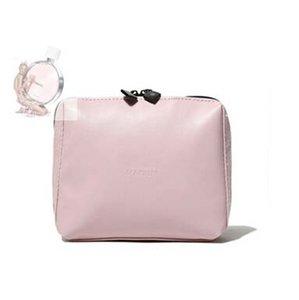 Venta caliente de las mujeres de la Marca Bolsa de Maquillaje Populares PU Estuches de Cosméticos de Moda de alto grado Rosa Encantadores Embragues Con Caja de Regalo # 71748
