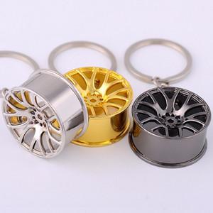 Nouveau 2017 Porte-clés De Haute Qualité En Métal 3D Voiture Moyeu De Voiture Porte-clés Sac Pendentif Bijoux Cool Roue Jante Porte-clés