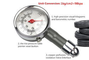 Mini Metal Portable Tire Pressure Gauge For Car Motorcycle Bike LB SQ.IN KG CM2 TPMS