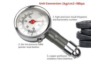 Indicador de presión de neumático portátil del mini metal para la bici LB / SQ.IN KG / CM2 TPMS de la motocicleta del coche