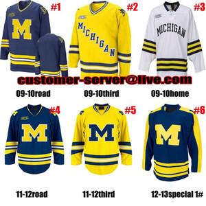 2016 новые пользовательские мужские женские дети 1 Стив Расин 11 Зак Хайман NCAA Мичиган Росомахи трикотажные изделия вратарь вырезать хоккей Джерси