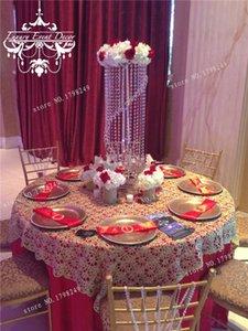 décoration centre de la table principale partie de la décoration en cristal spirale pièce maîtresse candélabre de mariage / stand / 70 cm de haut D20