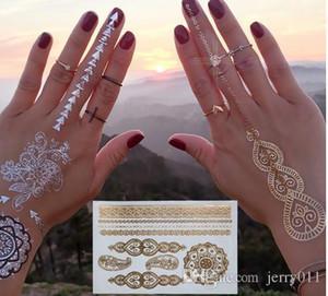 золото татуировки продукты секса ожерелье браслеты тату металл временные татуировки женщин вспышка металлические поддельные золото серебро татуировки