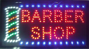 Ultra Bright LED Leuchtreklame BARBER SHOP Animierte Leuchtreklame LED Leuchtreklame Werbetafel Größe 23.62''x13 ''