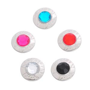 19mm Love Letter çekin Renkler Mix Değiştirilebilir çekin Charm Takı Rhinestones DIY Zencefil Snap Düğme Takı Aksesuar