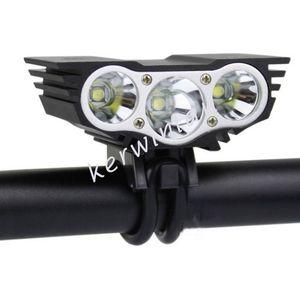 Luce per bici SolarStorm Nero / Rosso 3x CREE U2 T6 LED Testa anteriore Luce per bicicletta Lampada frontale Lampada per sport all'aperto (Nessuna batteria)