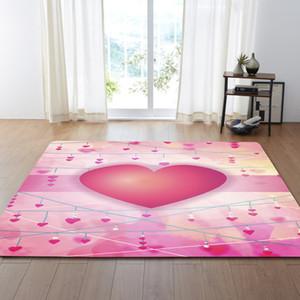 Tappeto soggiorno con bella stampa cuore, tappeto sala da pranzo, fascia per le mani con stampa a forma di cuore