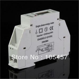 Monophasé LCD 5 (32A) 220VAC 60Hz DIN-rail Kilowatt Heure kWh Energy Meter order $ 18aucun rail