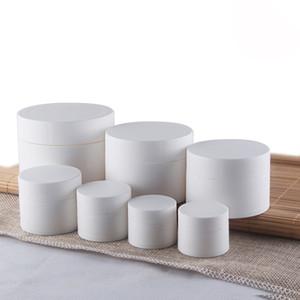 De alta Calidad 3g 5g 10g Frascos de Crema Cosméticos de plástico blanco Envase de Batom de Loción Vacía Botellas de Embalaje de Muestra