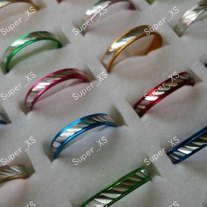 1 Unidades 100 unids Al Por Mayor anillo de la joyería lotes bastante multicolor mujeres hombres Anillos de aleación de aluminio Nuevo LR088 envío gratis