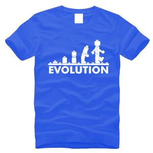 الجملة 2016 وصول جديد مضحك التي شيرت قمصان رجالية كم جولة الرقبة القصيرة التي شيرت الطباعة EVOLUTION الرجال الصيف 100٪ قطن S-3XL، MA015