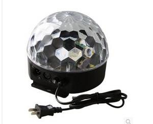 18W 6 Led Sound Активный Кристалл Magic Ball RGB лазерный этап эффект освещения света лампы для диско / бар / DJ / партии с США / ЕС Plug