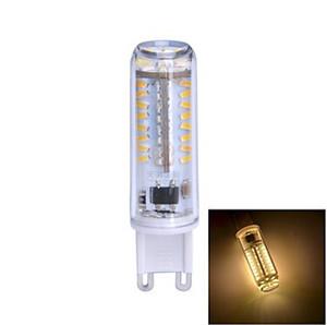 2015 nuevo envío gratuito AC220V / 110V regulable de alta potencia 7W G9 70LED lámpara 360 ángulo de haz LED bombilla lámpara blanca o blanca cálida